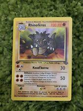 Carte Pokémon - Rhinoféros Édition 1 45/64 - Jungle/Wizard -FR- (Proche Du Neuf)