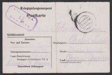 GERMANY, 1942. POW Post Card, Oflag VII A, Chelm