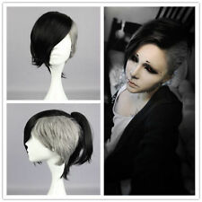 2017 The new Ghoul Uta Wig Black and White 30cm Short New Hot Cosplay Wig Tokyo
