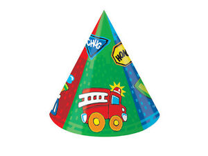 Construction Pals Party Hats (6) - Birthday Party Supplies