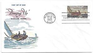 "Winslow Homer - 1207 1962 4c ""Breezing Up"" FDC, Fluegel Cachet - Unposted"