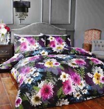 Linge de lit et ensembles noir coton mélangé à motif Floral