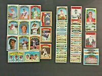 (Lot of 63) 1972 Topps Baseball Cards (BENCH, Stars, Rookies)  EX-NM & NM  LT15
