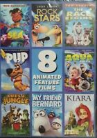 8 animated feature films dvd 2014 brand new, sea, rock stars, pup, the race begi