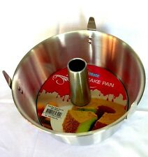 NEW Professional Aluminium Angel Food Cake Pan 2-PC Tin 25.5CM Chiffon Bakeware