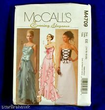 McCall's 4709 Sewing Pattern Evening Elegance Formal Prom Gown Size 6-12 NEW