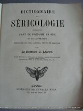DICTIONNAIRE DE SERICOLOGIE LUPPI E.O.5 langues ca1890