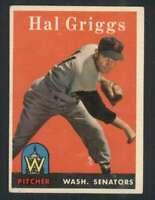 1958 Topps #455 Hal Griggs EX/EX+ RC Rookie Senators 71601