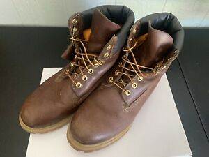 "Timberland 6"" Prem Chili Brown Size 9.5"