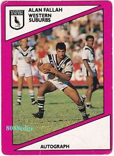 1988 SCANLENS RUGBY LEAGUE #108: ALAN FALLAH - WESTS MAGPIES/NRL TOUCH JUDGE B