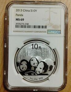 CNC: 10 Yuan China 2013 Panda NGC MS 69