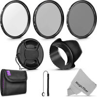 55MM Altura Photo UV CPL ND4 Professional Lens Filter Kit and Accessory Set