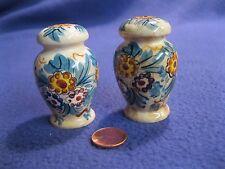 Vintage Spanish Urn Yellow Flowers Salt and Pepper Shakers Ceramic          1