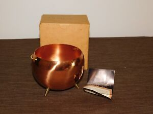 KITCHEN  COPPERCRAFT GUILD COPPER 3 LEG & HANDLE BOWL / CANDY DISH NEW in BOX