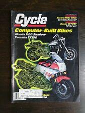 Cycle Magazine June 1985 - Honda 1100 Shadow - Yamaha FZ750 - Harley Wide Glide