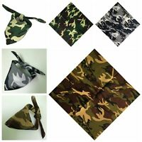 100% Sports Cotton Camouflage Scarf Headwrap Ride Mask Bandana Turban Headbands
