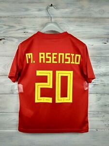 Asensio Spain soccer jersey 9-10 years 2019 home shirt BR2713 football Adidas
