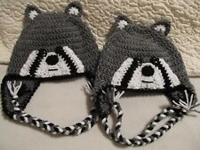 Crochet Racoon Hat/Beanie - Made to Order - Baby to Adult Sizes