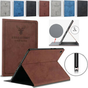 For Apple iPad Pro 11 12.9 Case PU Leather Protective Cover Smart Flip Stand