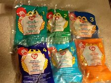 1999 McDonalds Teenie Beanie Babies - Complete Set of 12 Toys - All MIP
