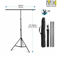 T-Shape Photography PVC Backdrop Adjustable Background Support Stand + Carry Bag