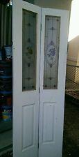 Bifold door  decorative glass  suit 720 doorway 2015 x 710 x 35 mm hollow core