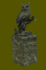 GREAT GIFT BRONZE SCULPTURE STATUE Animal Abstract Pure Owl Figurine Hot Cast