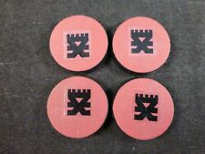40K Chaos Space Marines Painted Objective Markers / Bases (4) - Khorne