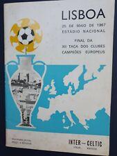 More details for 1967 european cup final - inter milan 🇮🇹 v glasgow celtic 🏴