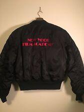 Rare New York Film Academy Flyers Nylon  Bomber  Jacket Sz L