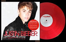 JUSTIN BIEBER Under The Mistletoe LP on RED GLITTER VINYL New SEALED Colored