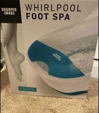 New Sharper Image Smg1552Bl Whirlpool Foot Bath Spa
