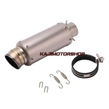 60mm Universal Titanium Exhaust Tube Muffler Pipe For Motor Street Racing Bike