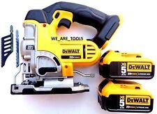 DeWalt DCS331 20V Cordless Variable Speed Jig Saw,(2) DCB205 5.0 Battery 20 Volt