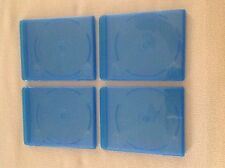 4 Blu-ray Cases 12mm 1-Disc Single w/ LOGO Empty Replacement Cases NEW!