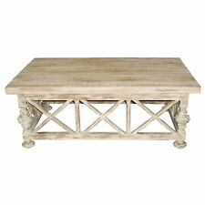 """48"""" L Mavis Coffee Table Hand Crafted Reclaimed Douglas Fir Rustic Wooden X Base"""