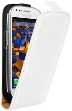 mumbi Flip Case für Samsung Galaxy S3 Mini Ledertasche Tasche Hülle weiß