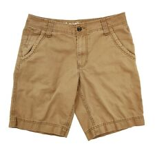 Mossimo Supply Co Chino Shorts Men's 32 Brown Pockets Zip Closure 100% Cotton