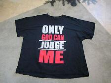 2pac Only God Can Judge Me Thug Life Shirt Adult 4XL Tupac Rap Tee Hip Hop Mens