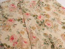 RALPH LAUREN WOODSTOCK Rose Floral RED/PINK/YELLOW 2 Standard PILLOWCASES RARE