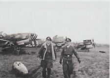 OFw Muller and Fw Blume of Luftwaffe 4/JG27 with their BF109G-6s WW2 5x7