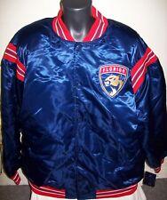 FLORIDA PANTHERS NHL STARTER Satin Jacket Traditional BLUE Big Man's 3X 4X 5X 6X