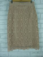 Uniqlo Nude lace skirt Sz S, 10