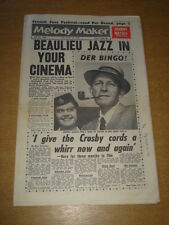 MELODY MAKER 1961 JULY 22 BEAULIEU JAZZ FESTIVAL BING CROSBY JOHNNY MATHIS +