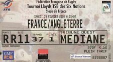 """BILLET MATCH DE RUGBY """"STADE DE FRANCE / FRANCE / ANGLETERRE / 19 FEVRIER 1998"""""""