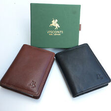 Personalised Mens Leather Card Wallet with RFID Fraud protection free engraving