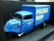 WOW EXTREMELY RARE Tempo 3 Wheeler Box Van 1952  Phoenix Pick Up 1:18 Minichamps