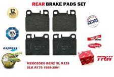 FOR MERCEDES BENZ SL R129 SLK R170 1989-2001 REAR AXLE BRAKE PADS FULL SET