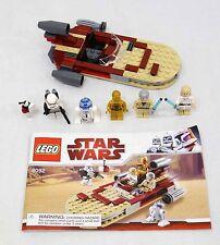 LEGO Star Wars Landspeeder 8092 Complete w/ MiniFigures & Instructions No Box