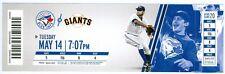 2013 Blue Jays vs Giants Ticket: Brandon Belt &  Pablo Sandoval HR/RA Dickey win